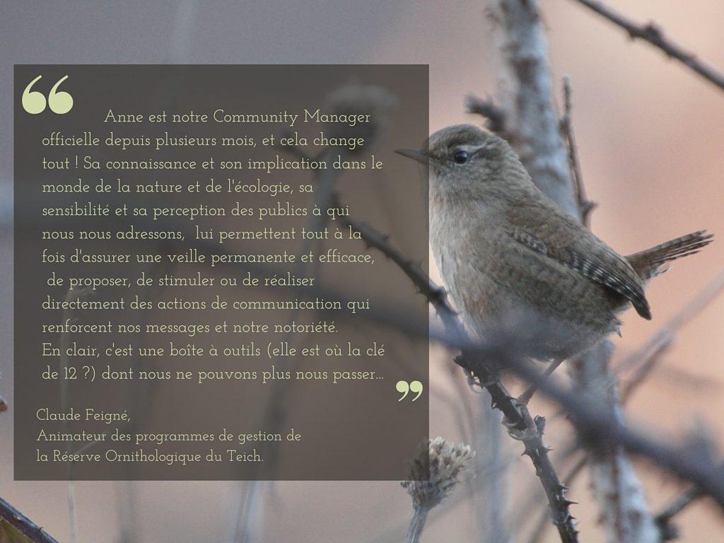 témoignage réserve ornithologique du teich