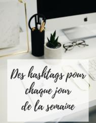 Une histoire de plumes vous donne des idées d'hashtags dans sa fiche technique