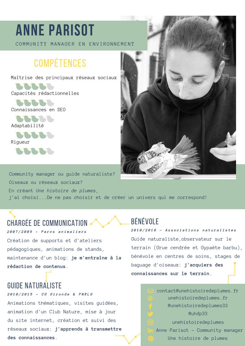 Anne Parisot - Community manager et formations réseaux sociaux en gironde à Une histoire de plumes